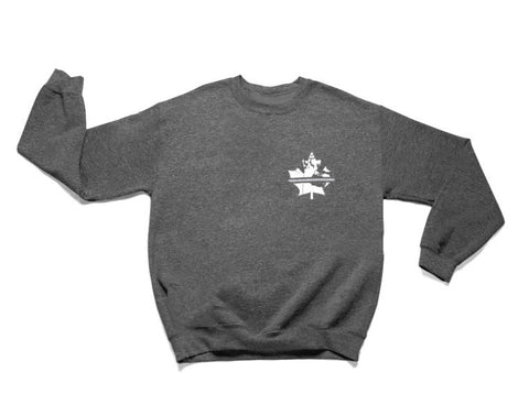 Thin Grey Line Crew Sweater - Dark Heather