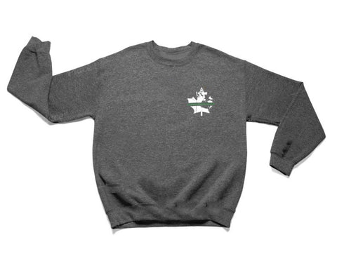 Thin Green Line Crew Sweater - Dark Heather