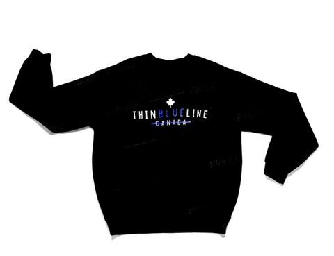 Thin Blue Line Original Crew Sweater - Black