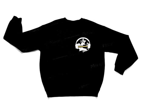 Thin Yellow Line Crew Sweater - Black