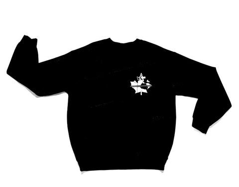 Thin Grey Line Crew Sweater - Black