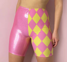 Load image into Gallery viewer, Harlequin biker shorts
