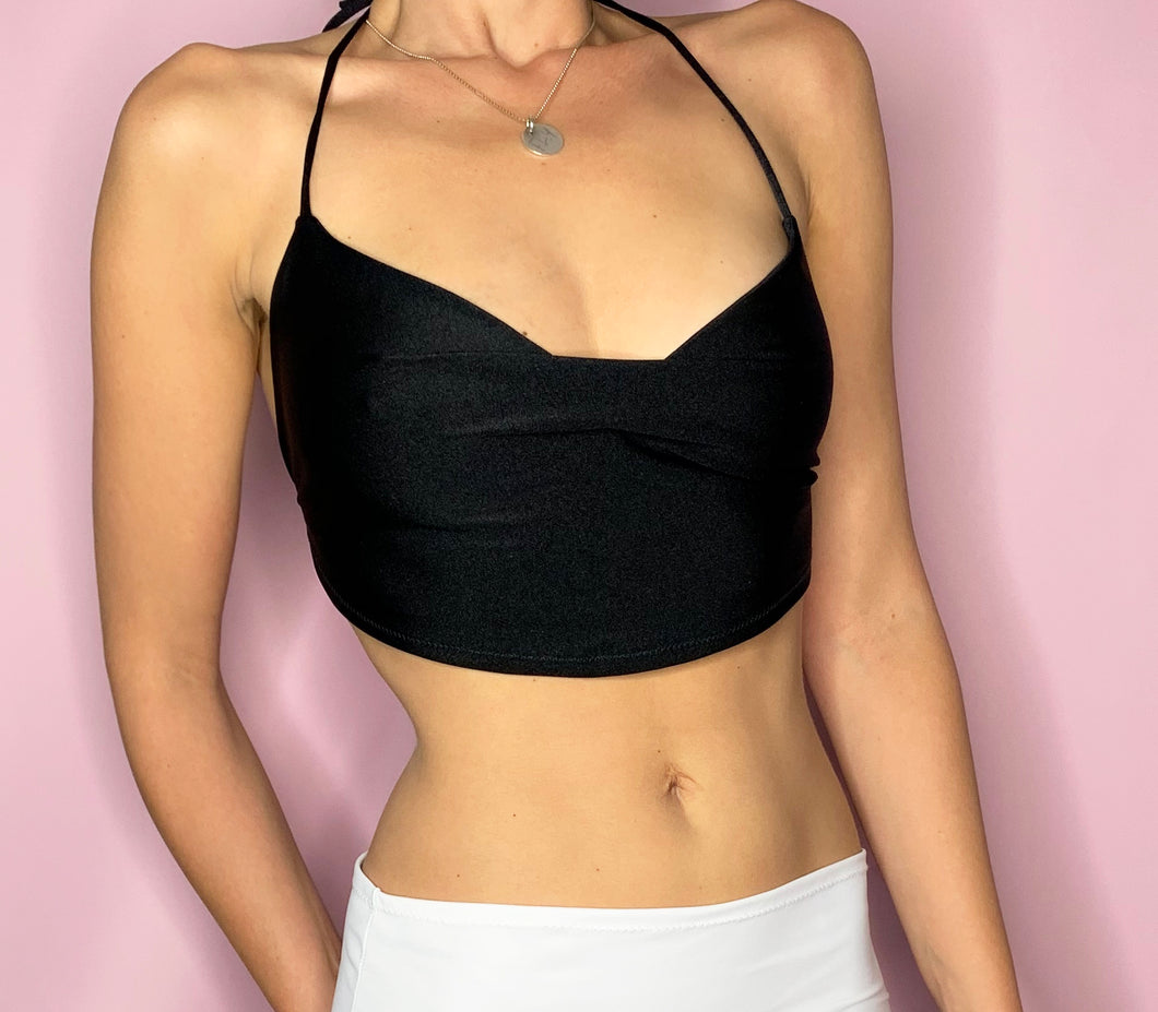 backless halloween christmas party crop top