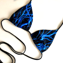 Load image into Gallery viewer, Neon Blue rave / halter /  bralet bikini top