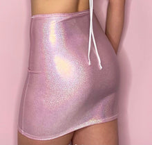 Load image into Gallery viewer, Sparkly Pink Mini Skirt