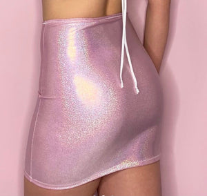 Sparkly Pink Mini Skirt