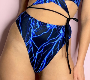 Lightning bolt High Waisted High Leg Rave Bottoms