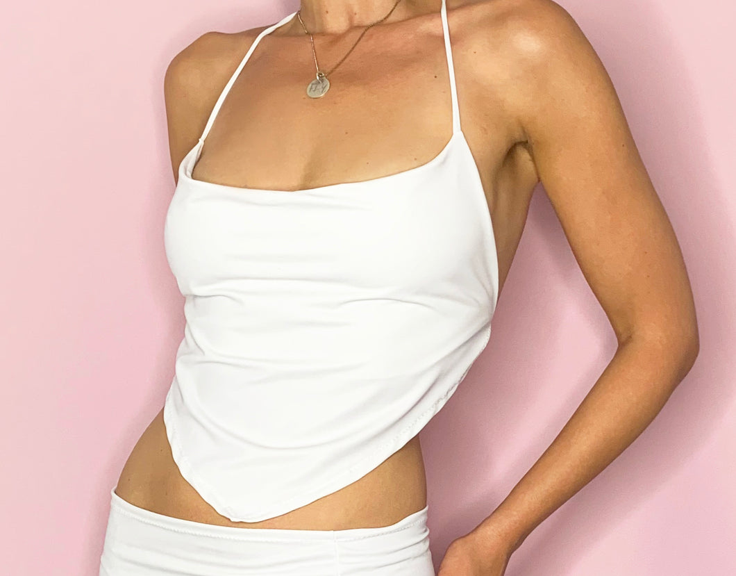 90's y2k white cami top