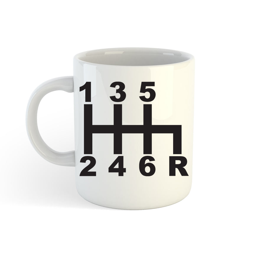 123456R Manual Gearbox Logo 11oz (300ml) Tea Coffee Mug Cup