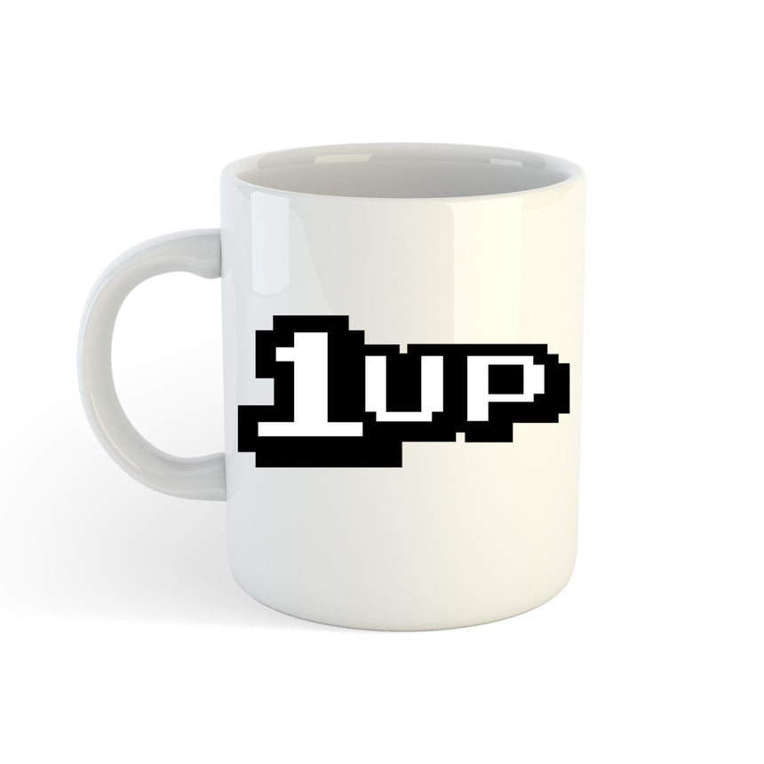 1up Retro Gaming Logo 11oz (300ml) Tea Coffee Mug Cup