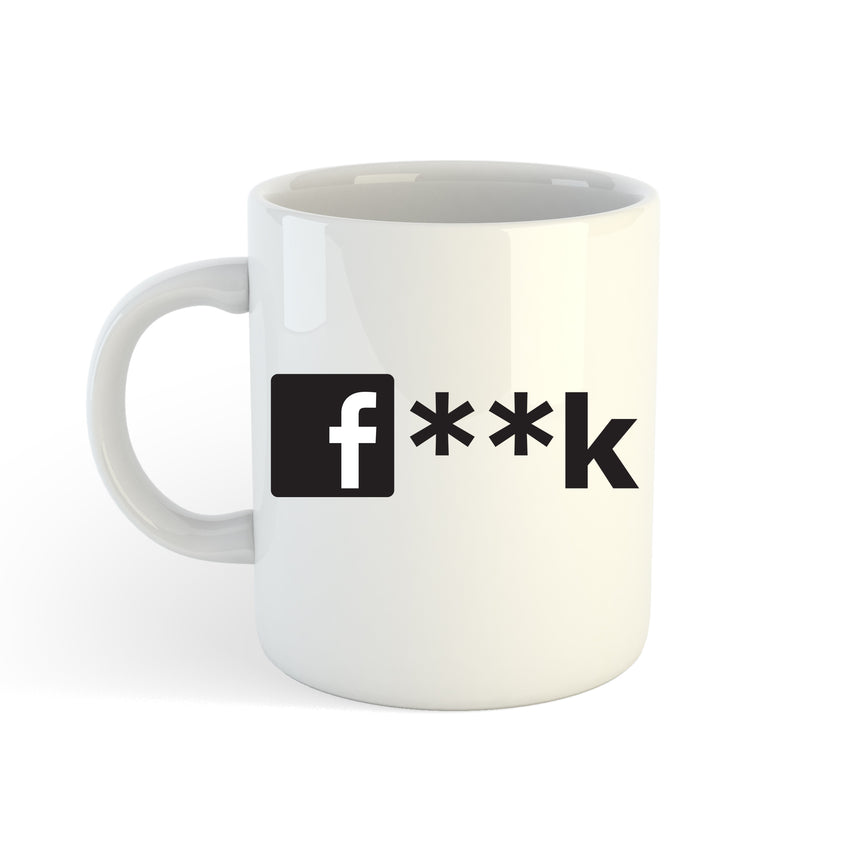 Facebook Fuck Logo 11oz (300ml) Tea Coffee Mug Cup