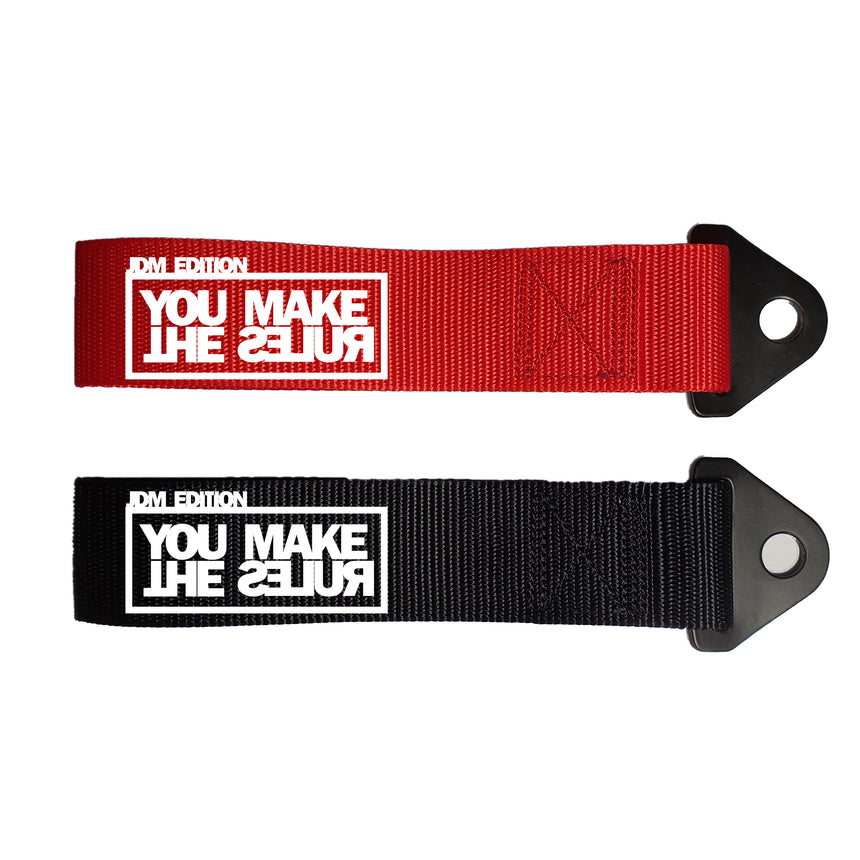 JDM Edition You Make The Rules Logo Universal Car Tow Strap & Fixing Bolt