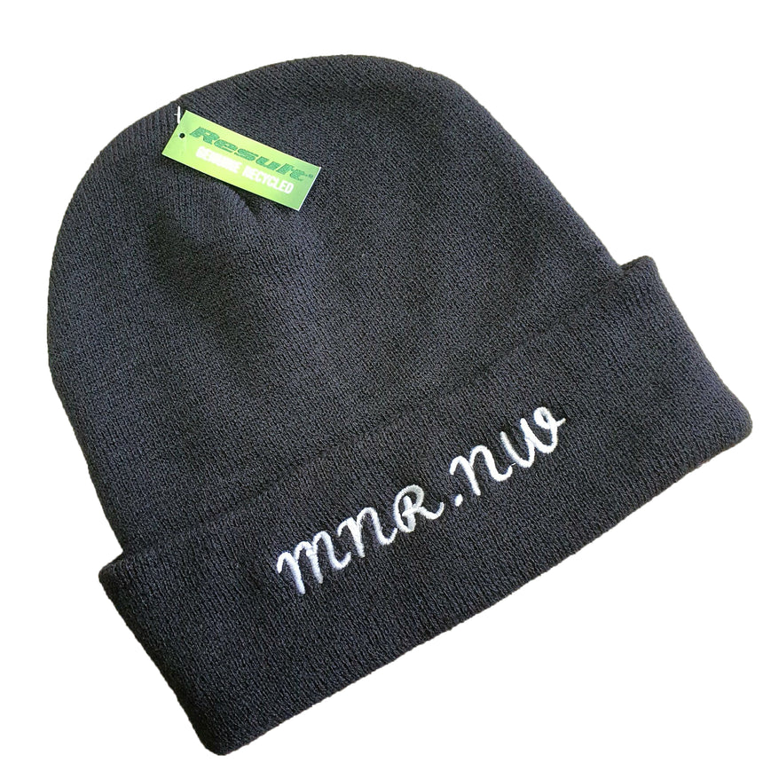 Midnight Runners MNR. NW Text Logo Beanie Hat