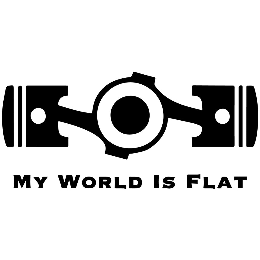 My World Is Flat 20x10cm Vinyl Sticker (Choice Of Colours)