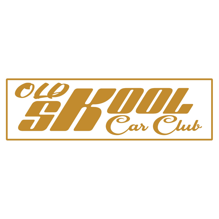 Old Skool Car Club Logo Hoodie / Hooded Top