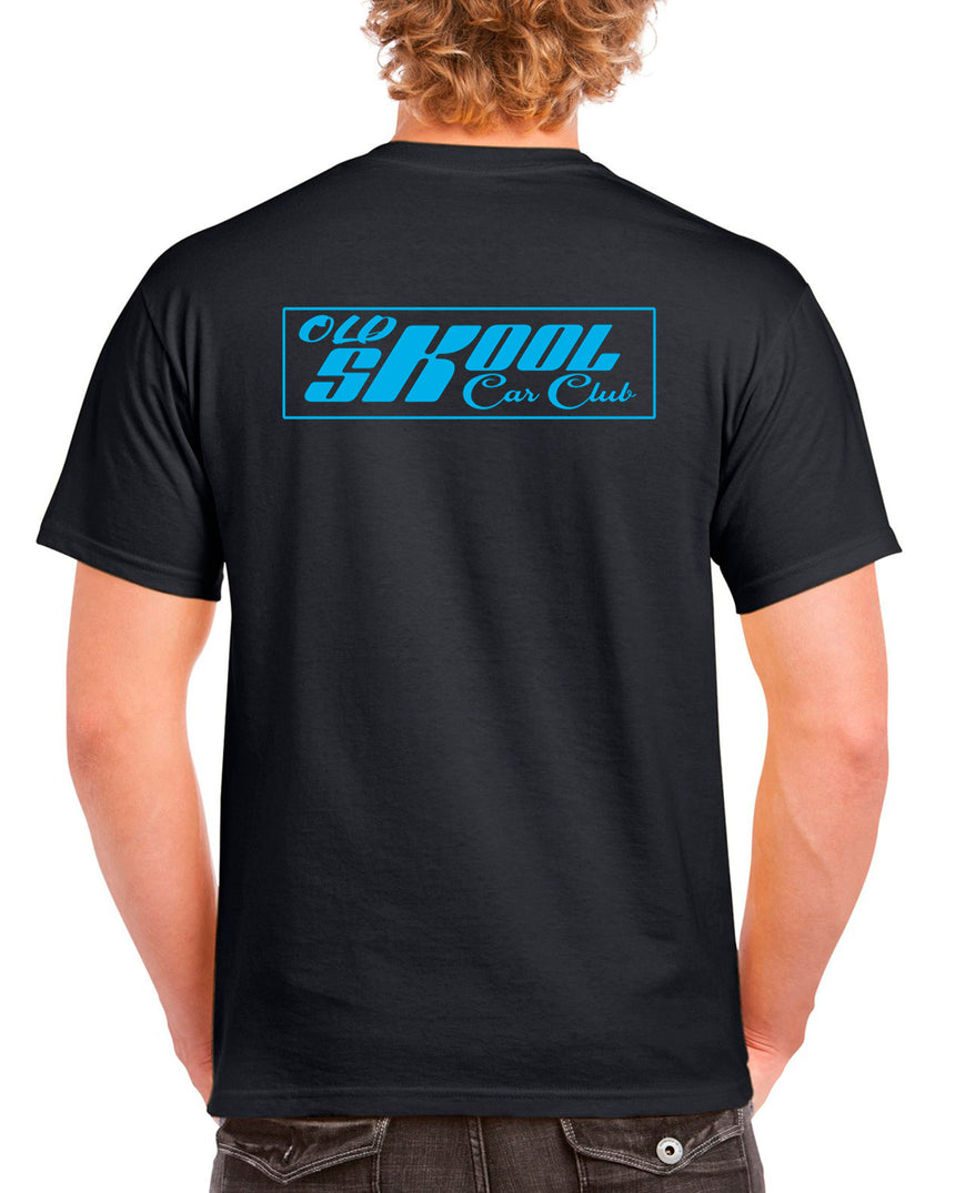 Old Skool Car Club Logo 100% Cotton Crew Neck T-shirt (51 colour choices)