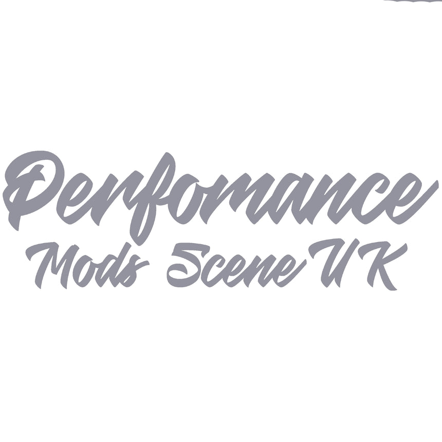 Perfomance Mods Scene UK Text Logo Car Sticker 21x6.7cm (Gloss)