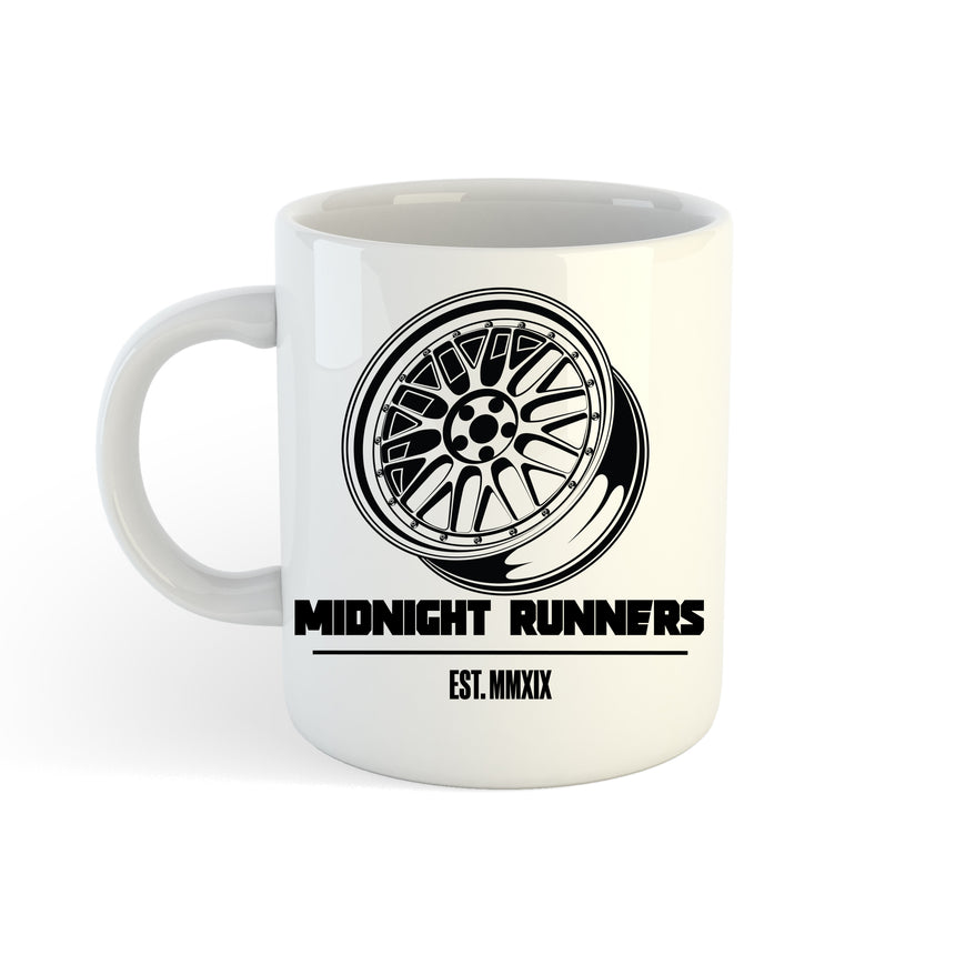 Midnight Runners Wheel Logo 11oz (300ml) Tea Coffee Mug Cup
