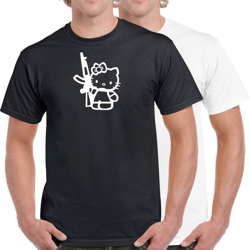 AK47 Hello Kitty Logo 100% Cotton Crew Neck T-shirt (51 colour choices)