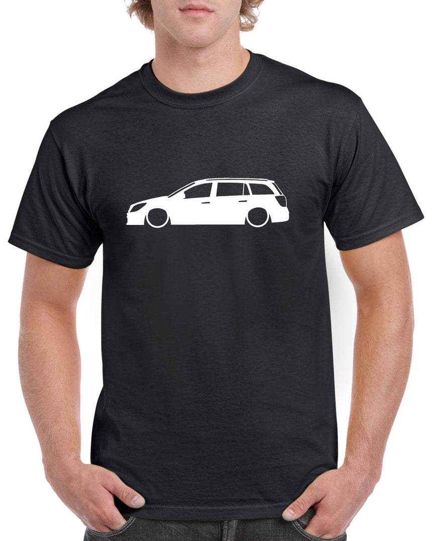 Vauxhall Astra H Estate Outline Silhouette Logo 100% Cotton Crew Neck T-shirt (51 colour choices)