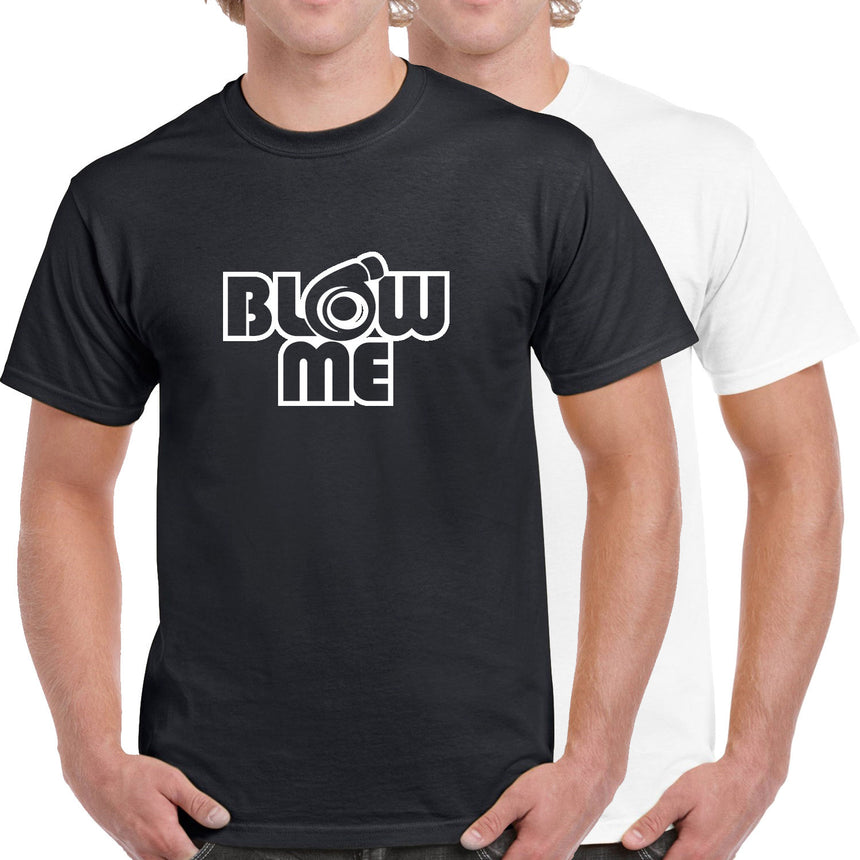 Blow Me Turbo Funny Rude Logo 100% Cotton Crew Neck T-shirt (51 colour choices)