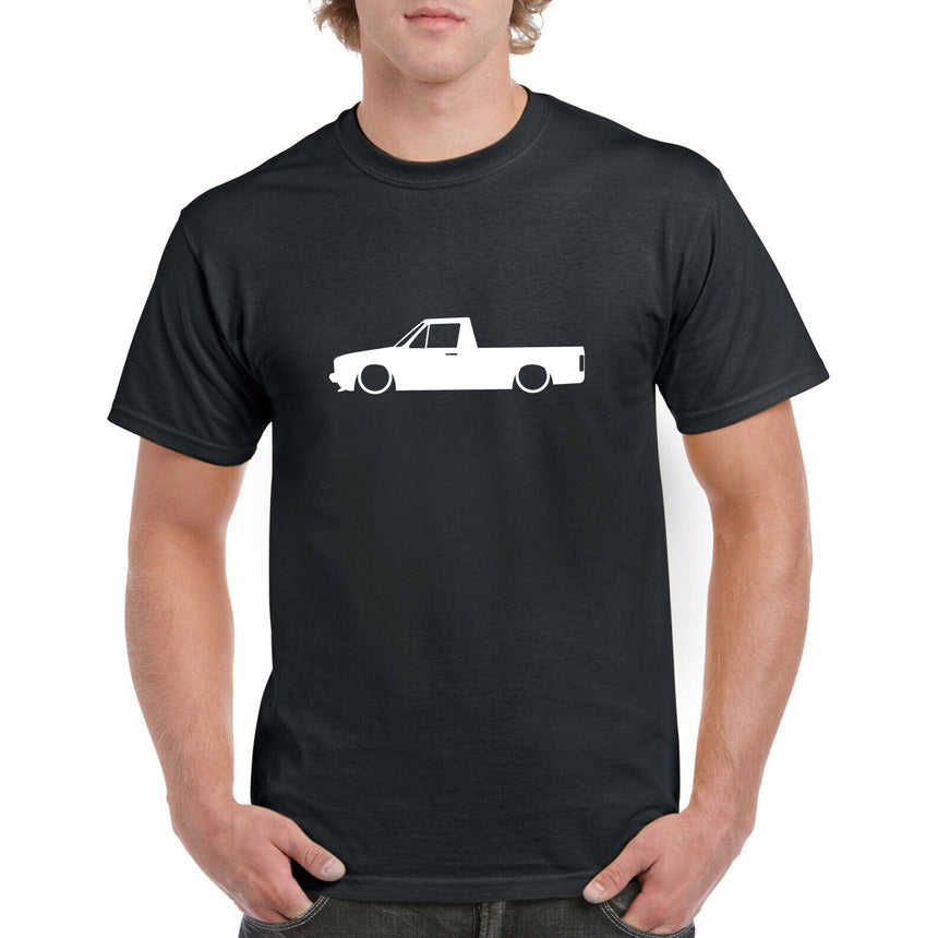 Caddy MK1 Pickup Outline Silhouette Logo 100% Cotton Crew Neck T-shirt (51 colour choices)