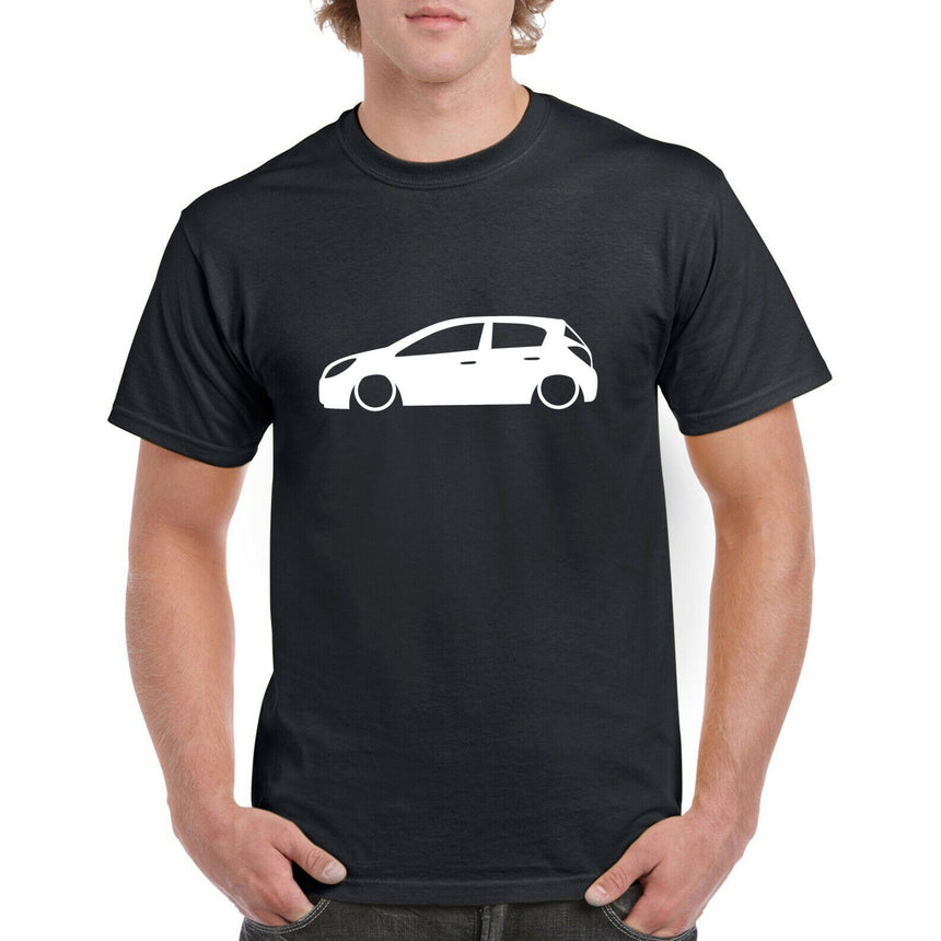 Vauxhall Corsa D 5 Door Outline Silhouette Logo 100% Cotton Crew Neck T-shirt (51 colour choices)