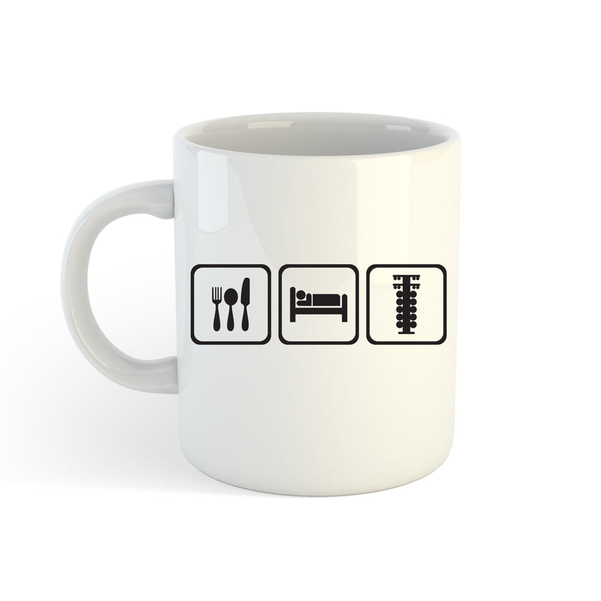 Eat Sleep Race Logo 11oz (300ml) Tea Coffee Mug Cup