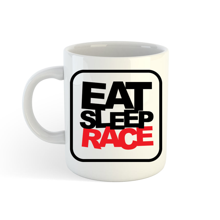Eat Sleep Race Square Logo 11oz (300ml) Tea Coffee Mug Cup