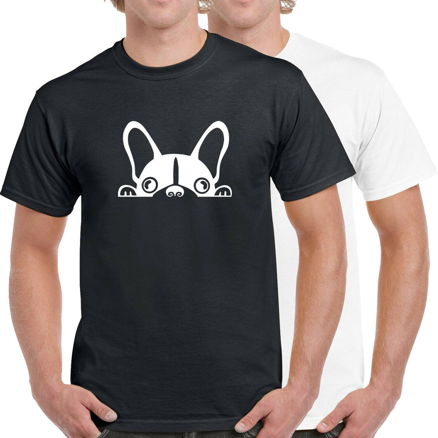 French Bulldog Logo 100% Cotton Crew Neck T-shirt (51 colour choices)