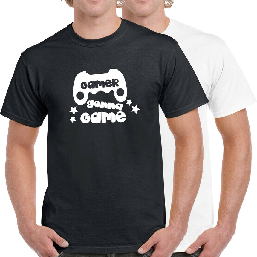 Gamers Gonna Game Logo 100% Cotton Crew Neck T-shirt (51 colour choices)