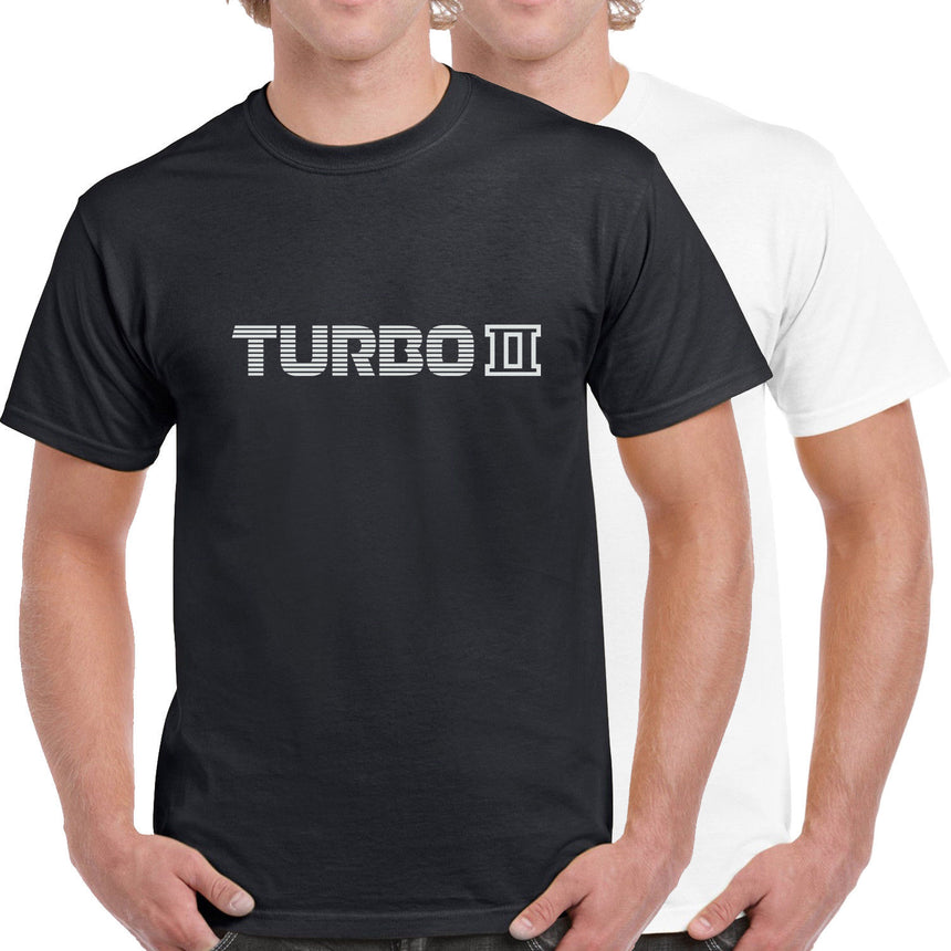 Turbo II Text Logo 100% Cotton Crew Neck T-shirt (51 colour choices)