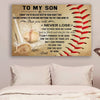 (cv423) Baseball Poster - Dad Son - never lose