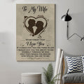 (cv766) QH family Poster - to wife - never forget that