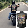 (LV6) LHD BIKER MAN LEATHER VEST - AN OLD MAN