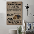 (cv832) LDA American football poster - Mom to Son - always remember