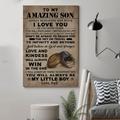 (cv830) LDA American football poster - Dad to Son - always remember
