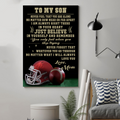 (cv844) LDA American football poster - Mom to Son - Never feel that