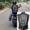 (LV7) LHD BIKER MAN LEATHER VEST - I DON'T RIDE MY OWN BIKE