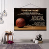 (CT213) Basketball canvas with the wood frame - to my son - Custom