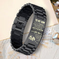 LVL biker bracelet black - to my son - sometimes
