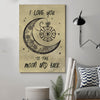 (cv470) firefighter poster - I love you to the moon and back