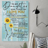 (cv1119) LHD Sunflower poster - Mom to daughter - I love you