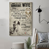 (D83) LHD Family Poster - To my Wife - I had you and you had me