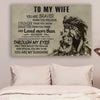 (cv899) LHD lion poster - to wife - you are braver vs2