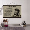 (CV899) Lion canvas with the wood frame - To my wife - You are braver