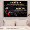 (cv876) LHD boxing poster - Dad to Son - never lose