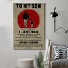 (D185) LHD Family Poster - Dad to son - Your way back home