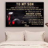 (cv877) LHD boxing poster - Mom to Son - never lose