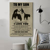 (D177) LHD Family Poster - Dad to Son - I love you